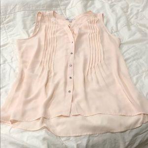 Chaus New York pink blouse. Large.